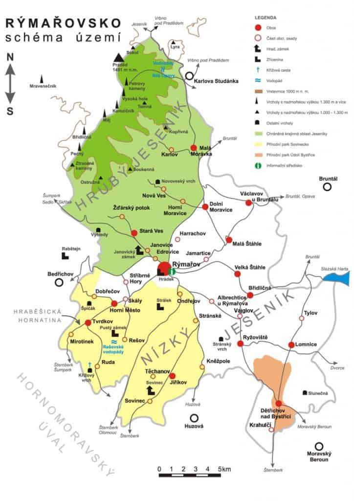 Mapa Rýmařovska