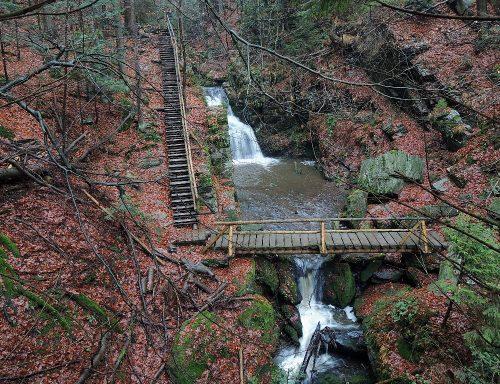 Soutěska Rešovských vodopádů