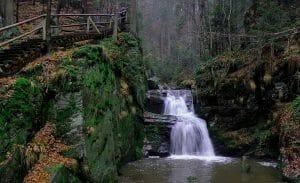 Rešovské vodopády, menší vodopád